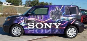 Car Wrap Graphics Sedan Wraps Sony Scion