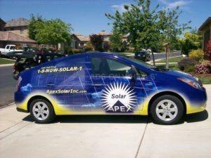 Car Wrap Graphics Solar Sedan APR2