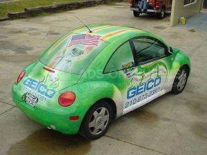 Car Wrap Graphics Wraps Coupe Beetle Insurance Geico