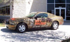 Car Wrap Graphics Wraps Coupe Mustang Bank Credit Union Saf