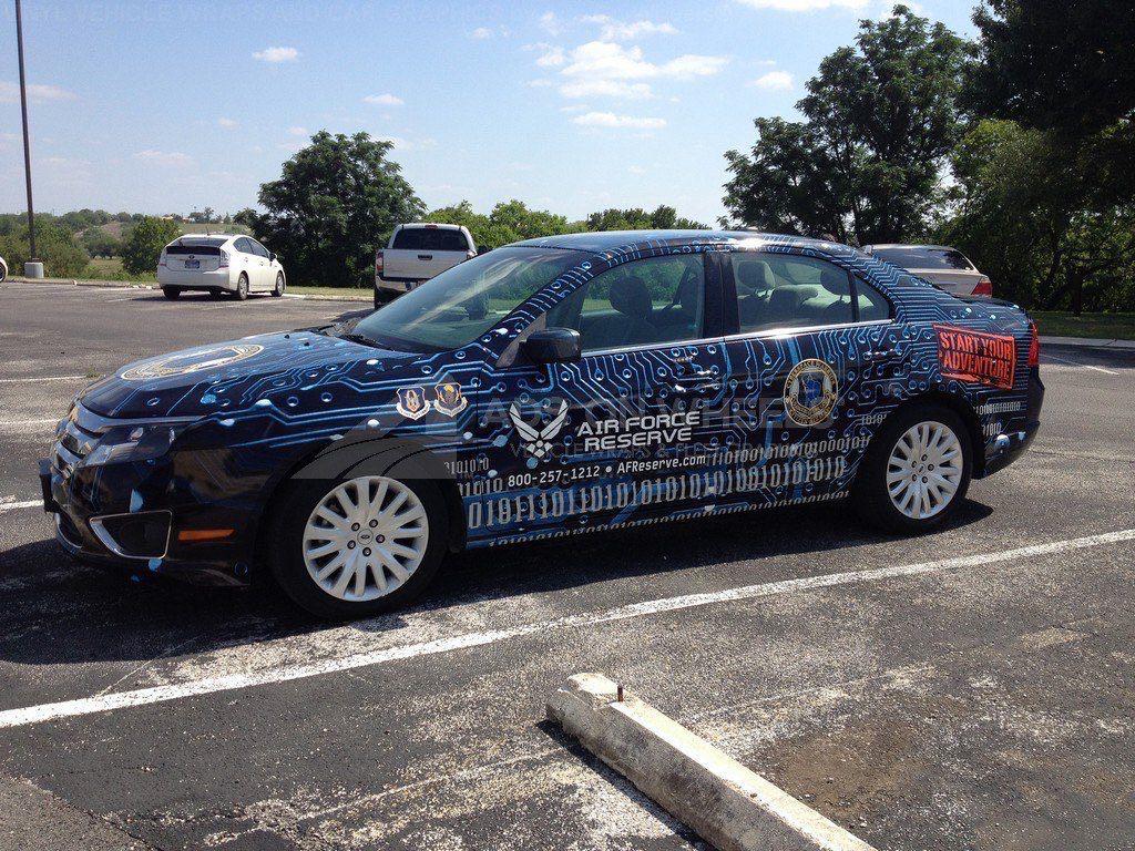 Car Wrap Graphics Wraps Sedan Air Force BWA6