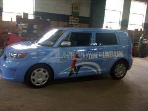 Car Wrap Graphics Wraps Sedan Bank Scion CCU