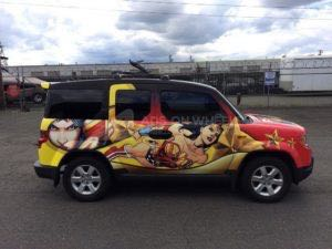 Car Wrap Graphics Wraps Sedan Cartoon Ww