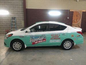 Car Wrap Graphics Wraps Sedan Cleaning Ssw2