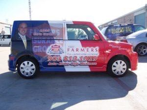 Car Wrap Graphics Wraps Sedan Farmers Insurance FM