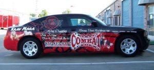 Car Wrap Graphics Wraps Sedan Fitness Martial Arts Tca