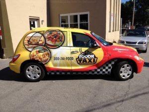 Car Wrap Graphics Wraps Sedan Foodie Taxi Food