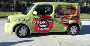 Car Wrap Graphics Wraps Sedan Franchise Schlotzkys Sandwich Rbi