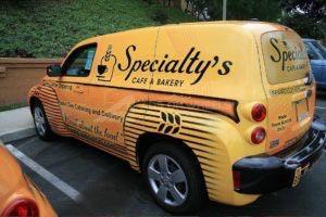 Car Wrap Graphics Wraps Sedan Hhr Bakery Scb
