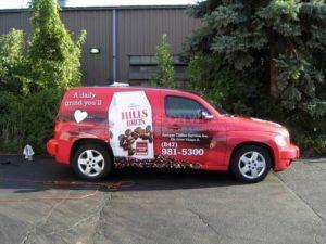 Car Wrap Graphics Wraps Sedan Hhr Coffee Hills Bros Mzb