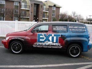 Car Wrap Graphics Wraps Sedan Hhr Exit Realty