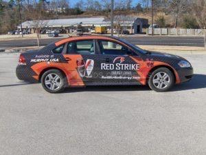 Car Wrap Graphics Wraps Sedan Murphys Oil Moc
