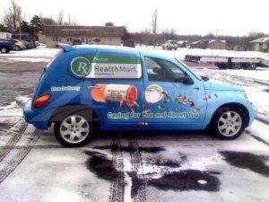 Car Wrap Graphics Wraps Sedan Pharmacy PEX