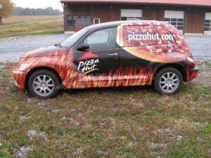 Car Wrap Graphics Wraps Sedan Pizza Hut Pzh