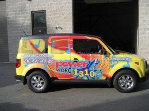 Car Wrap Graphics Wraps Sedan Radio Station Power