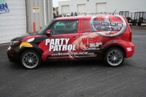Car Wrap Graphics Wraps Sedan Scion Dealership Som