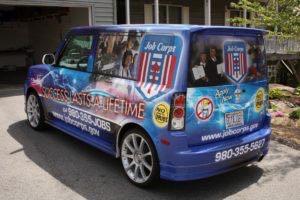 Car Wrap Graphics Wraps Sedan Scion Job Corps