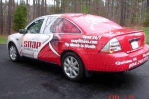 Car Wrap Graphics Wraps Sedan Snap Fitness Franchise