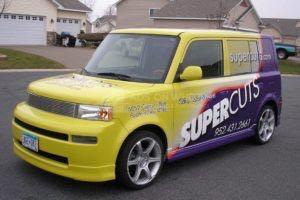 Car Wrap Graphics Wraps Sedan Super Cuts Scion