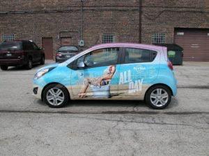 Car Wrap Graphics Wraps Sedan Travel Agency Hr Gttj