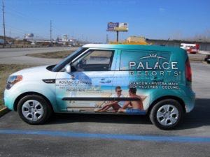 Car Wrap Graphics Wraps Sedan Travel Agency Palace At