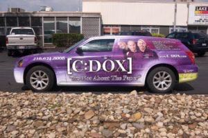 Car Wrap Graphics Wraps Sedan Wagon Financial Dox