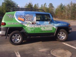 Car Wraps Suv Graphics Anti Smoking Truth Toyota FJ Cruiser