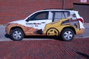 Car Wraps Suv Graphics Loader Works Construction Toyota Rav4 Rav 4 CWI