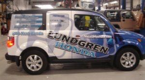 Car Wraps Suv Graphics Lundgren Dealership Honda Element LHA
