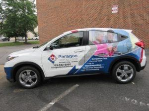 Car Wraps Suv Graphics Paragon Home Care Honda HRV PHC