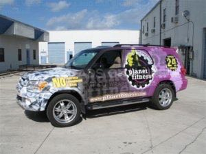 Car Wraps Suv Graphics Planet Fitness Toyota Sequoia PFS 2