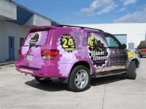 Car Wraps Suv Graphics Planet Fitness Toyota Sequoia PFS
