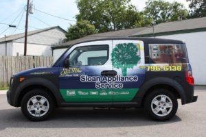 Car Wraps Suv Graphics Sloan Appliance Repair Honda Element SAS3