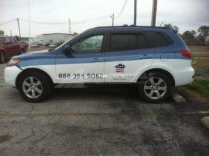 Car Wraps Suv Graphics Veterans United Hyundai Sante Fe VAM