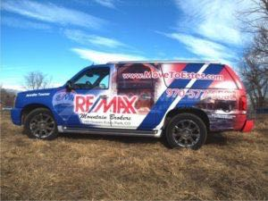 Car Wraps Suv Graphics Real Estate Remax Cadillac Escalade RMH 1