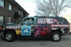 Car Wraps Suv Graphics Victory Records GMC YUKON XL Record Label 1