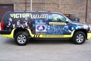 Car Wraps Suv Graphics Victory Records GMC YUKON XL Record Label 2