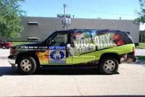 Car Wraps Suv Graphics Victory Records GMC YUKON XL Record Label 4