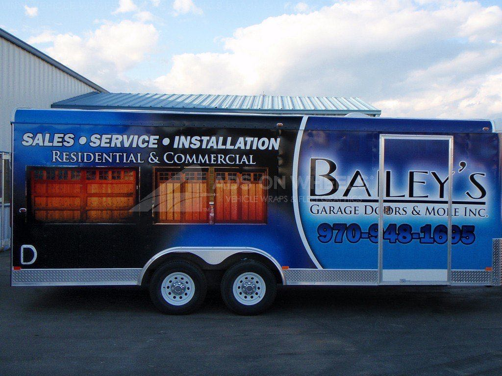 Cargo Trailer Wrap Graphics Bailey