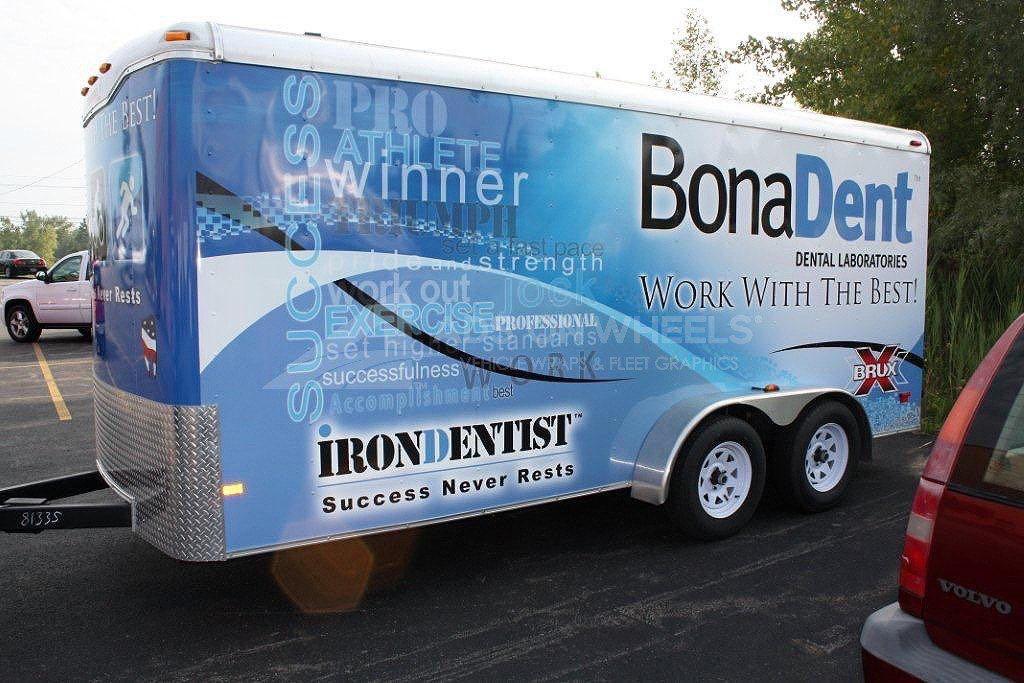 Cargo Trailer Wrap Graphics BonaDent