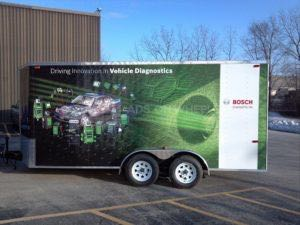 Cargo Trailer Wrap Graphics Enclosed Bosch