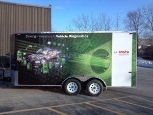 Cargo Trailer Wrap Graphics Enclosed Bosch