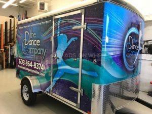 Cargo Trailer Wrap Graphics Enclosed Dance