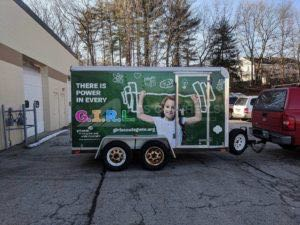 Cargo Trailer Wrap Graphics Enclosed Girl Scouts