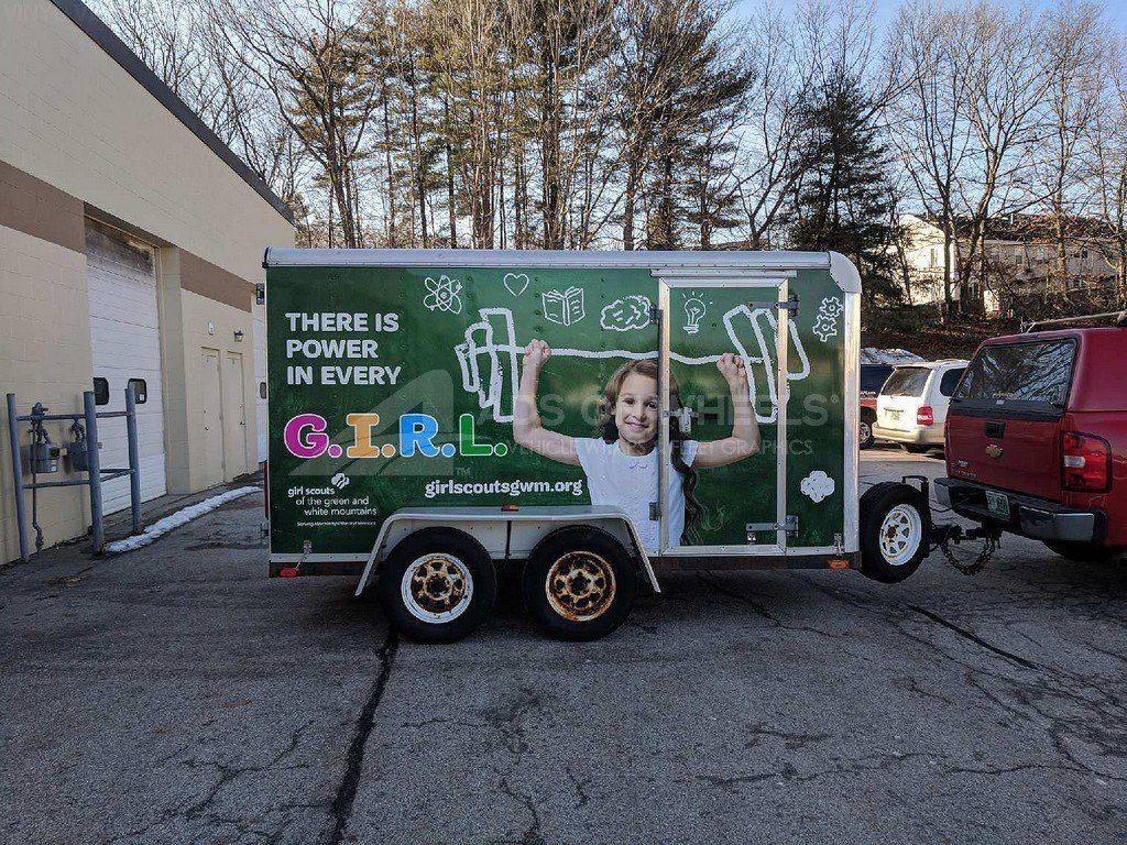 Cargo Trailer Wrap Graphics Girl Scout