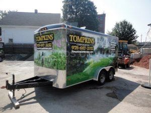 Cargo Trailer Wrap Graphics Enclosed Landscaping Tls