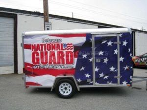 Cargo Trailer Wrap Graphics Enclosed National Guard