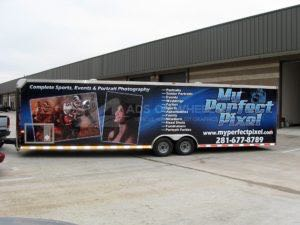 Cargo Trailer Wrap Graphics Enclosed Pixel