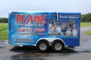Cargo Trailer Wrap Graphics Enclosed Real Estate Remax