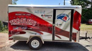 Cargo Trailer Wrap Graphics Enclosed Travelers
